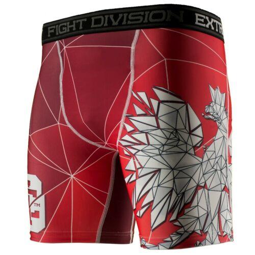 Vale Tudo Shorts POLSKA red Extreme Hobby Training  GYM MMA BBJ