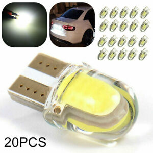 20pcs T10 501 W5w Car Side Light Bulbs Error Free Canbus Wedge Smd Led Xenon Hid