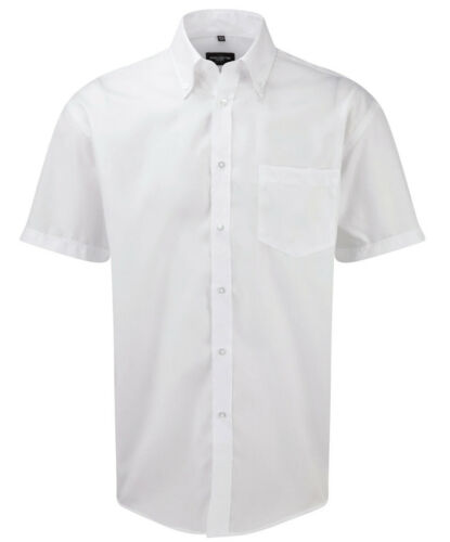Herren Hemd Hemden Russell Collection Mens Short Sleeve Ultimate Non-Iron Shirt