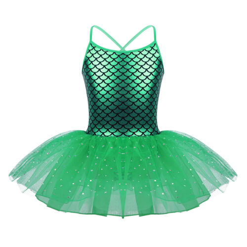 Girls Ballet Tutu Dress Sequins Gymnastics Leotard Fairy Princess Dance Costume