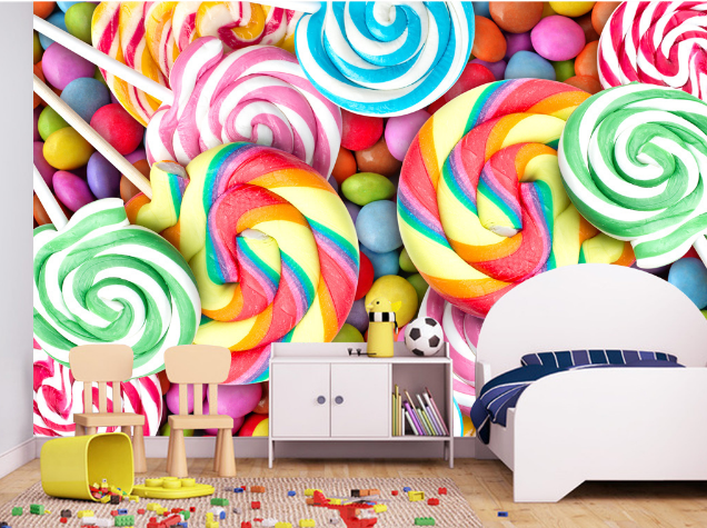 3D Regenbogen Lutscher 754 Tapete Wandgemälde Tapete Tapeten Bild Familie DE
