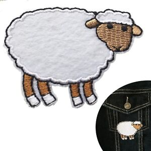 Animals Sheep Lamb Flock Babies Iron On Embroidered Patch