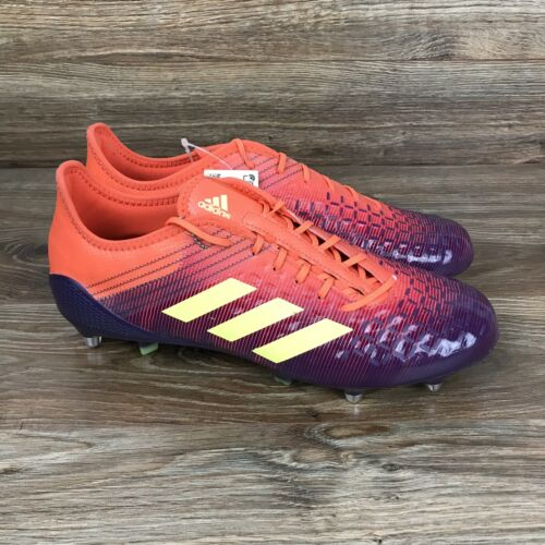 Adidas Predator Malice Control SG Mens Purple//Red//Orange Rugby Cleats BB7974