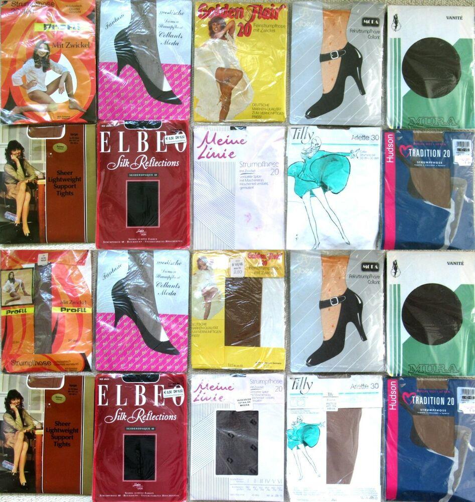 10 X Collants-elbeo-mura-hudson - Tilly-vintage-neuf Dans Sa Boîte-taille 44 - 46
