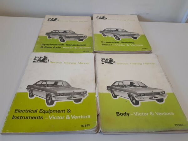 4 X Victor & Ventora Service Training Manuals All Listed Aantrekkelijk En Duurzaam