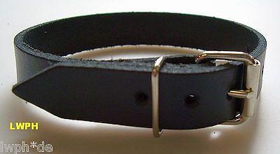 1 Lederriemen Fixierungsriemen 135 x 2,5 cm schwarz Gürtel Befestigung Riemen