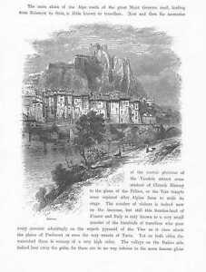Sisteron-Zitadelle-Mont-Dauphin-HOLZSTICH-um-1880-Frankreich-Gravure