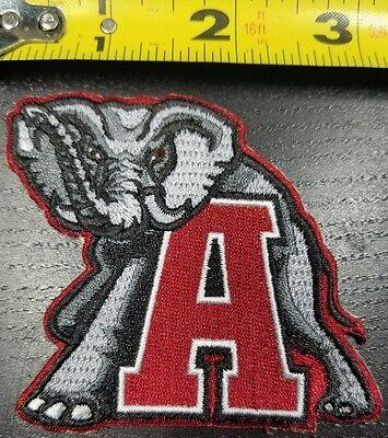 Alabama Crimson Tide Elephant  Iron On Embroidered Patch ~FREE Ship`!!