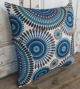 Details About Aztec Blue Brown Green B Lack Home Decor Cushion Cover