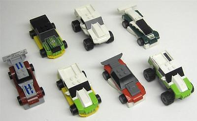 7 LEGO RACECARS LOT wheels city town racers drivers trucks bases McDONALDS TOY
