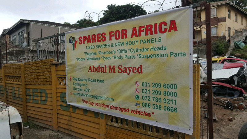 SPARES FOR AFRICA. COUNTRYWIDE DELIVERIES arranged daily 4 customers