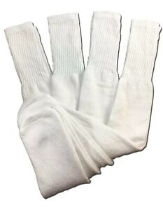 4 and 12 pk men big and tall boot work athletic extra long thick sock 24-26 inch