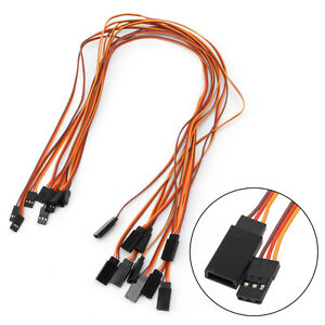 10Pcs-500mm-Lead-Extension-Servo-Wire-Cable-For-Futaba-JR-Male-to-Female-50cm