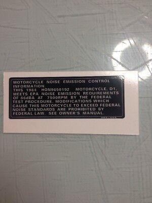 85 ATC 200X Frame Emission decal 965  Repro ATC 200X ATC200X