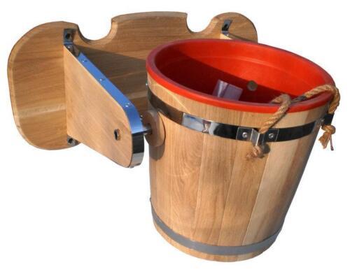 Russian Banya Waterfall Bucket 15L 3.9Gal Wooden Sauna Bath Shower SPA Jacuzzi