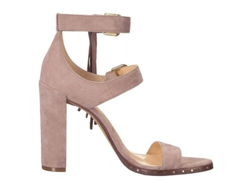 VINCE CAMUTO JESINA MESA TAUPE SUEDE WOMEN SANDAL OPEN TOE HEEL SHOES MULTISIZE