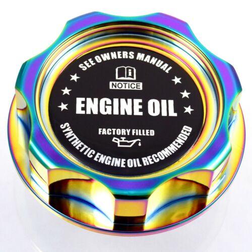 M7 Neo Chrome Billet Oil Filler Cap With  Engine Oil Emblem JDM For Honda Acura