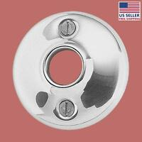 Pair Door Knob Rosettes Bright Chrome Colonial 2.5d   Renovator's Supply on sale