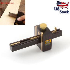 New-Ebony-Copper-Scribers-Screw-Cutting-Mark-Gauge-Woodworking-Carpenter-Tool-US