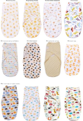 Baby Swaddle Wrap up Blanket Sleeping bag Cotton Bedding one piece for newborn