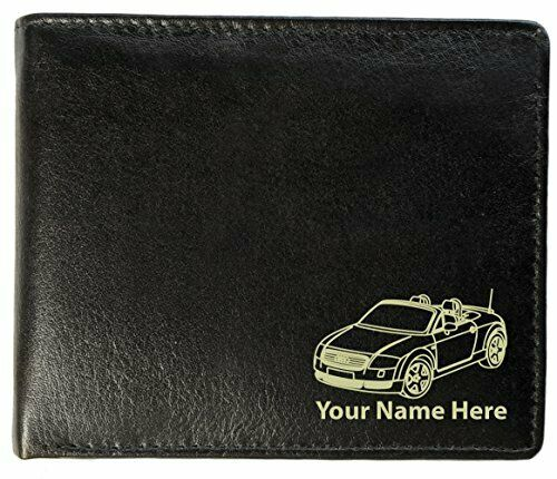 Personalised Mens Real Leather Wallet - TT Cabriolet Design