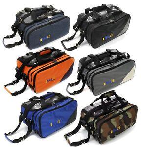 KAZE-SPORTS-2-Ball-Compact-Bowling-Roller-Bag-Expandable-Shoe-Pocket-Tote-Two