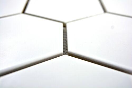 Mosaïque Carreau Céramique Hexagon Bain Carreaux Miroir Mur Blanc Mat wb11f-01111 de coffre