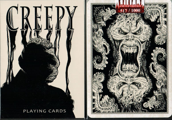 Bicycle Unbranded Creepy Playing Cards - Numbered Limited Edition #387 - SEALED