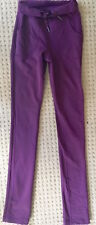 LULULEMON SKINNY WILL PANTS Plum Purple High Waisted Roll Down size 2 EUC Yoga