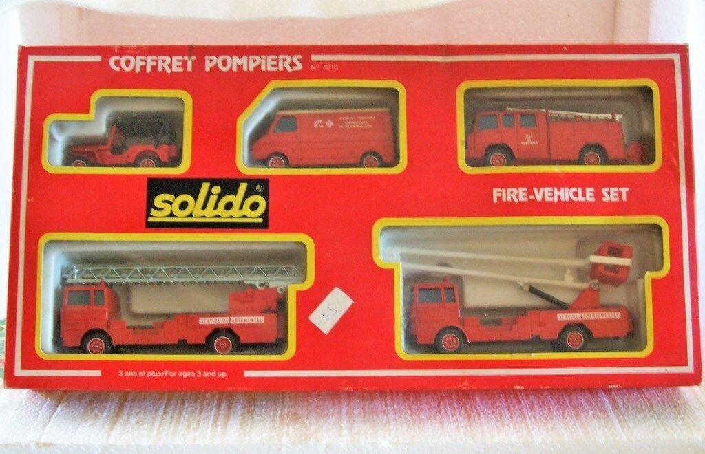 Solido 7010 - 1 43 - 1 50 FIRE ENGINE GIFT SET 5 Vehicle COFFRET POMPIERS