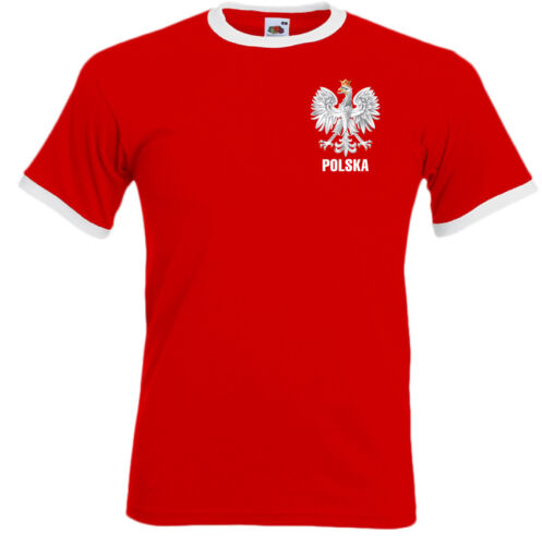 Pologne T-Shirt Polska Aigle Orzel Hommes Lustrant Foot Monde Tasse 2018 Drapeau
