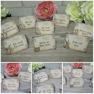 8 Alice in Wonderland Quote Table Cards  Decoration,Wedding,Party,