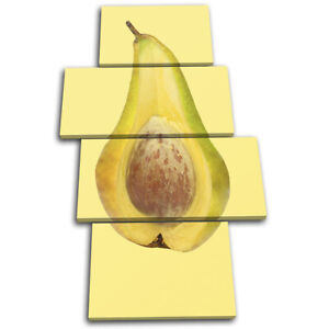 Pear-Avocado-Concept-Fruit-Food-Kitchen-MULTI-CANVAS-WALL-ART-Picture-Print
