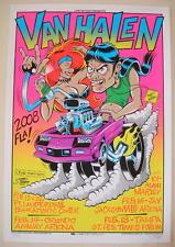2008 Van Halen - Silkscreen Concert Poster s/n by Stainboy