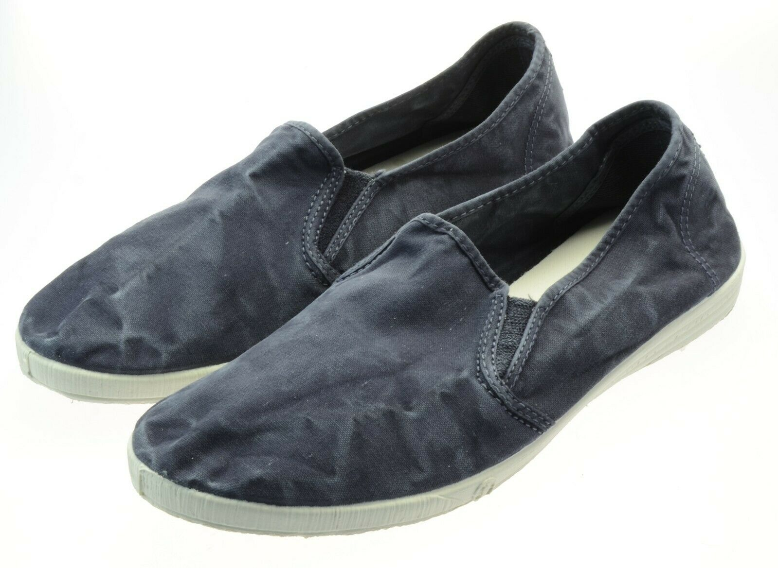 Natural World Schuhe 315E 677 MARINO ENZ BLAU Bio-Baumwolle Waschbar MadeinSpain