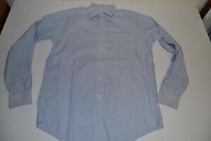 BROOKS-BROTHERS-BLUE-WHITE-STRIPED-POCKET-OXFORD-DRESS-SHIRT-MENS-SIZE-15-35