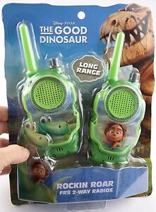 Disney The Good Dinosaur frs 2-way radio walkie talkie long range green NEW