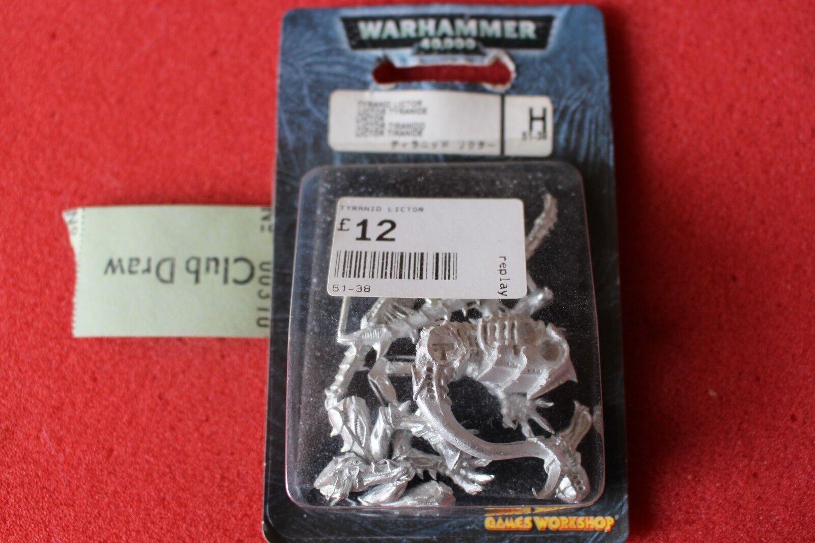 Games Workshop Warhammer 40k Tyranids Lictor Tyranid OOP BNIB Metal Figure WH40K