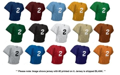 Youth or Adult Champro Poly Porthole Mesh Waist Length Football Practice Jersey