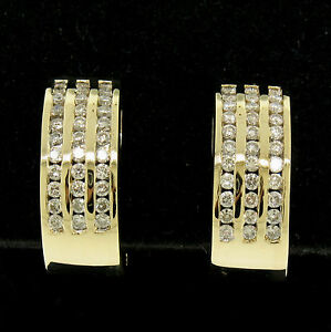 14k-Yellow-Gold-1-00ctw-Round-Diamond-Channel-Omega-Back-Wide-Cuff-Earrings