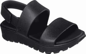 Women/'s Skechers Cali Gear Footsteps Breezy Feels Slingback Sandal Black//Black S