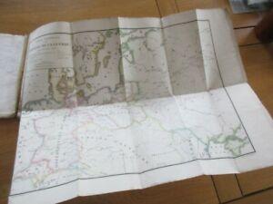 EXPEDITION DE RUSSIE ATLAS NAPOLEON 5 CARTES LITUANIE MOSCOU SMOLENSK MOSKWA