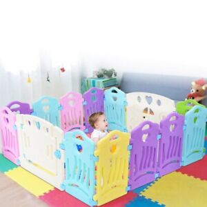 Baby Playpen Kids Activity Center-14 Panel Safety Play Yard Area -Indoor, Out US