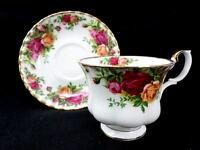 Royal Albert Old Country Roses Teacup Saucer Set 1962 England Bone China Tea Cup