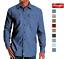 Wrangler-Men-s-Long-Sleeve-Stretch-Twill-Relaxed-Double-Pocket-Shirt-Pick-Size thumbnail 1