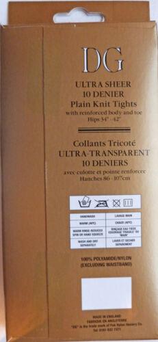 Dancing Girl One Size Ultra Sheer 10 Denier Plain Knit Tights 100/% Nylon