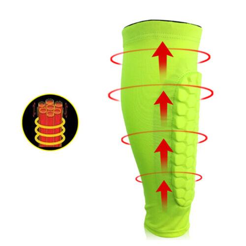 1Pcs Men Football Shin Guards Protective Soccer Pads Leg Basketball Training XL