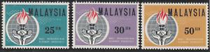 19-MALAYSIA-1964-ELEANOR-ROOSEVELT-SET-3V-FRESH-MNH-CAT-RM-12
