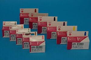 Neozed-D01-D02-Sicherungseinsaetze-Sicherungen-10er-Pack-2-63-A-zur-Auswahl