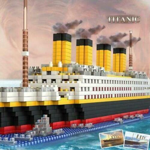 1860 Pcs Titanic Cruise Ship Model Building Block Set Micro Mini Blocks DIY Toys
